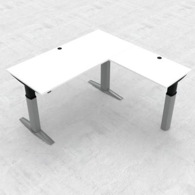 Steh-/Sitz-Eck-Schwerlast-Schreibtisch 501-23E